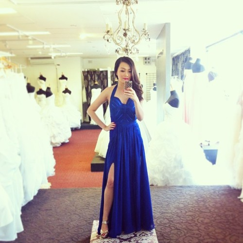 Dress #2 for Viet & Kim's wedding reception 💙  #todayimwearing #truelovecouture #dress #style #love #wedding #fashiondiary #photooftheday #me #mirror #ootd #like #igers  (at True Love Couture)
