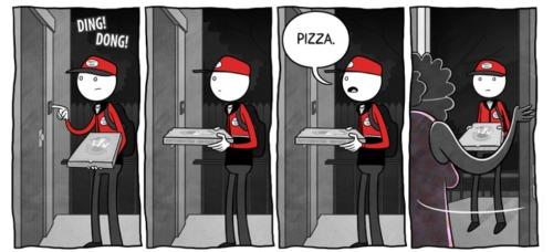 Pizza slut delivers