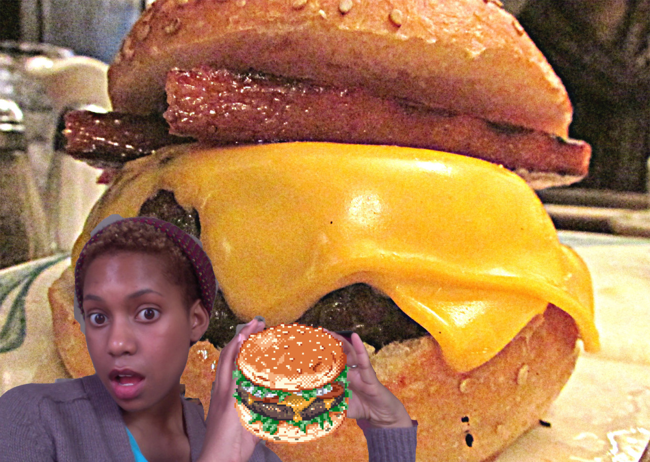 adventures in photoshop/addiction to burgers… do not own either of these burgers, but a delicious farm-raised, grass-fed angus on gluten-free bun is making its way through my system at the moment and it feeeeeeeels guuuuuuuud :D