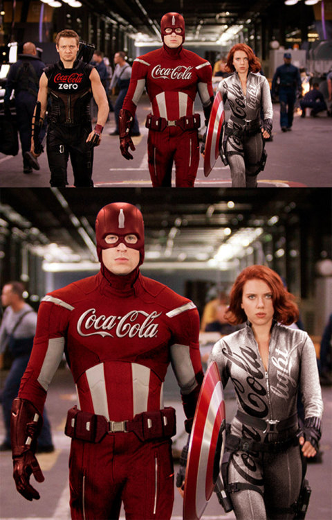 randomologie:  Again what would happen if super heros had a corporate sponsor.