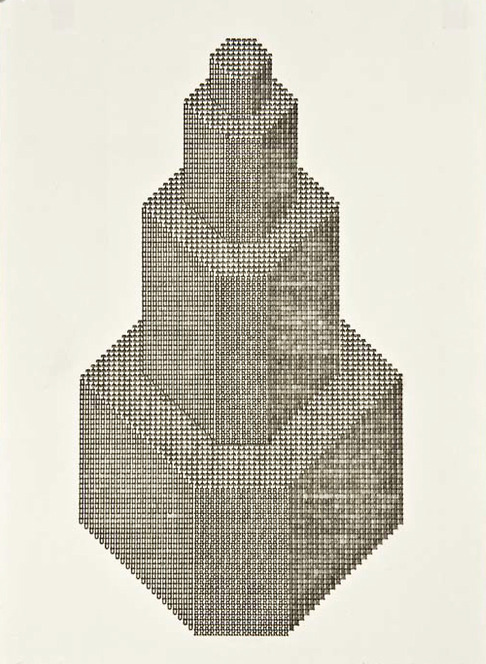 polychroniadis:  Ruth Wolf-Rehfeldt, 'Turn', 1976, typing on paper.