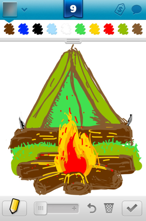Draw Something 2, 95, 2013 Word: Campfire