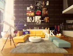 homedesigning:  (via Colorful Living Room)