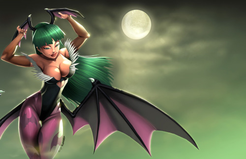 Morrigan color i did last year, draw by Rene Cordova, colors by me