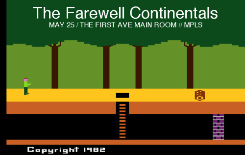 That's right!  Farewell Continental is playing a show Saturday May 25th, 2013 in Minneapolis, MN at First Avenue opening up for New Found Glory!  So get yer butts on over to where it's at and freak out on some delicious noise!