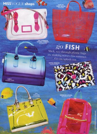 Miss Vogue featured the Clear School Bag in their June 2013 issue. Click here to visit our online store and shop this style now!