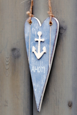 Ahoy there! Nautical heart decoration £2.50