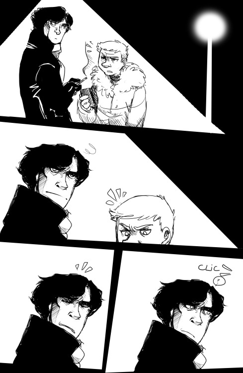flyingrotten:  Sherlock's nightmare. Shit happens.