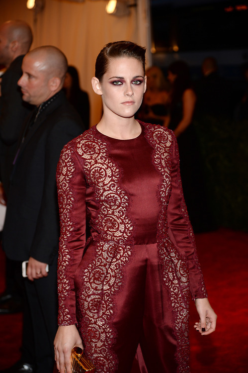 "Kristen Stewart at the 2013 MET Gala for the ""PUNK: Chaos to Couture"" exhibition at the Metropolitan Museum of Art on Monday night (May 6) in New York City."