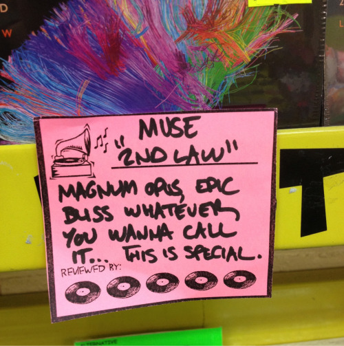 I went into JB-Hi-Fi and this thing was just like there with this comment on the album…
