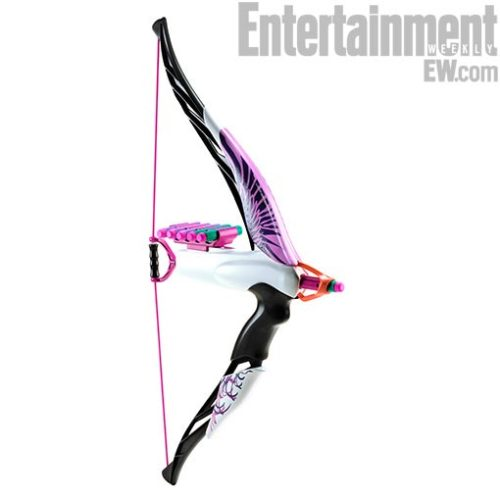 Attention, all aspiring Katniss Everdeens and Princess Meridas: Hasbro's launching a new line of Nerf toys for girls called Nerf Rebelle, starting with this one — the Heartbreaker Bow. Bullseye?