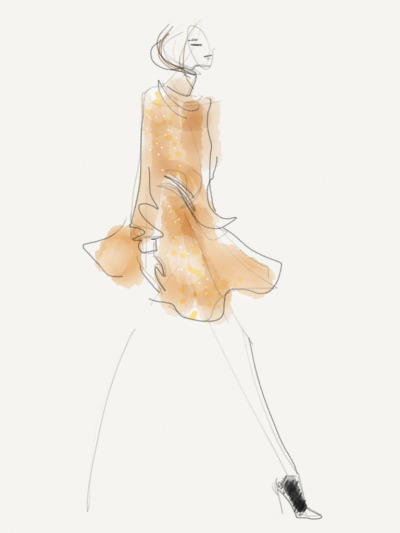 This week, fashion illustrator and friend of FiftyThree Danielle Meder is using Paper to live sketch Toronto Fashion Week! Follow flarefashion to see Danielle's signature creations and read her musings straight from the runway. flarefashion:  Line Knitwear - Fall 2013 / Illustration by Danielle Meder
