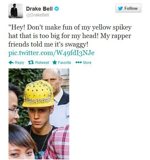 biologicalresearch:  whatevs-bobevs:  tun3g0nball:  Drake Bell's impersonation of Justin Bieber   No one hates Justin Beiber as much as Drake Bell hates Justin Beiber  is that a construction helmet