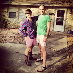 Sky's out, thighs out. @jareddedwards @cdavi67 #weird