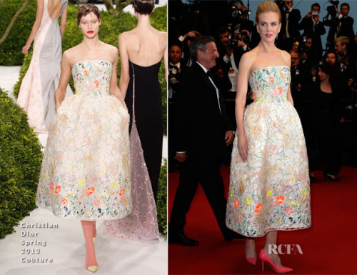 Nicole Kidman in Christian Dior  In case you were wondering, yes!, this is my favorite of Nicole Kidman. Raf Simons knows how to make everyone look good and he's doing such an incredible job at Dior. You'll see this style of dress a lot more often because of this man.