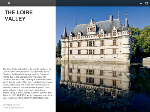 Fotopedia France - Story about the Loire Valley (iPad)