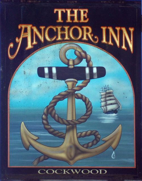 """ The Anchor Inn — Cockwood ""  …..  British Pub Sign in Devon, UK"