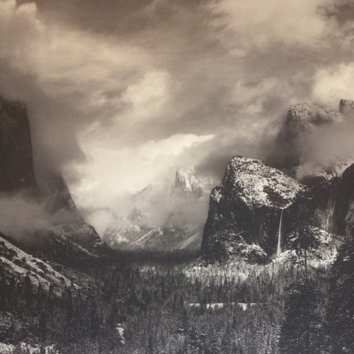 A bit of Ansel Adams for your viewing pleasure. One of the best exhibitions I've seen in a long time.