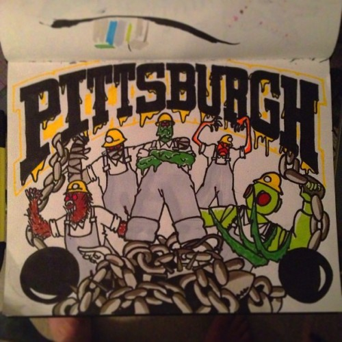 Scooby Doo Villians X Old School Steelers logo