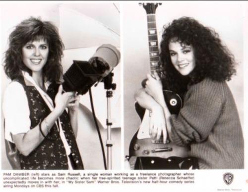 houseofsushi: Pam Dawber + Rebecca Schaeffer in  My Sister Sam (1986-1988)
