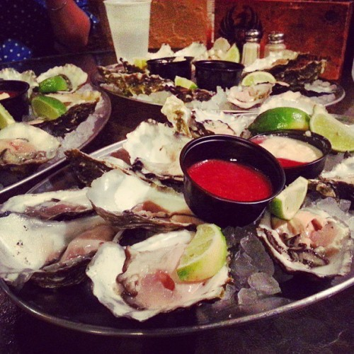 3 dozen oysters. Officially oystered out! #seafood #oysters #foodporn #instafood #bluewaterfishmarketandgrill #thataphrodesiacthough