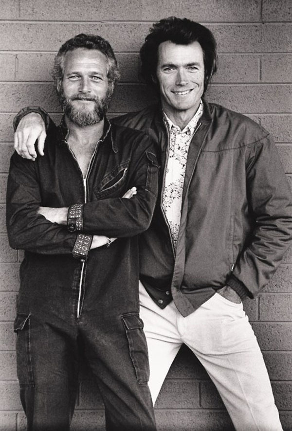 Paul Newman and Clint Eastwood photo.