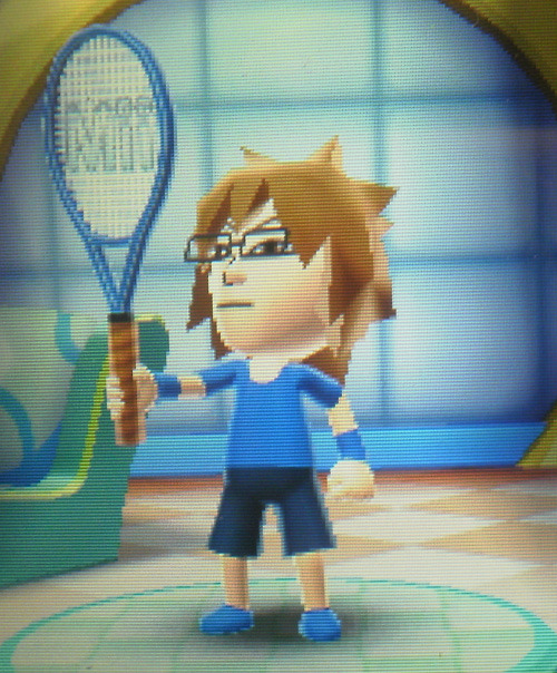 Tezuka is mah main character for Mario Tennis Open! I am excite to play moar tennis on the 3DS :> Mario Prince of Tennis Open