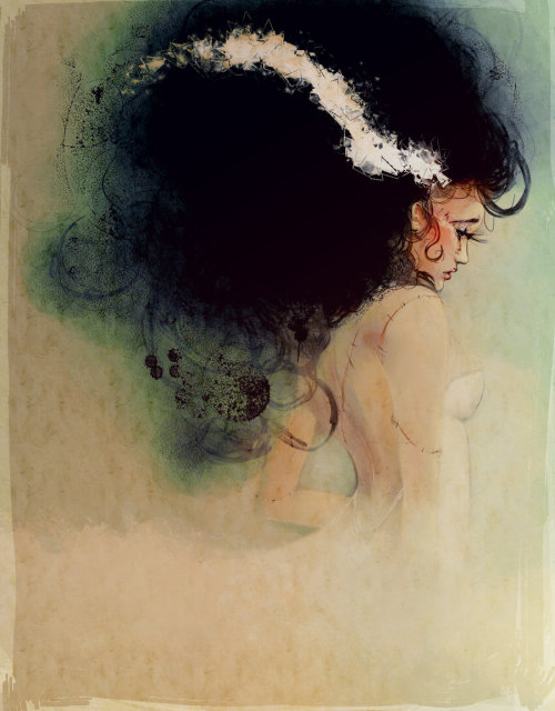 ghoulnextdoor:  bride of frankenstein by *Alicechan on deviantART