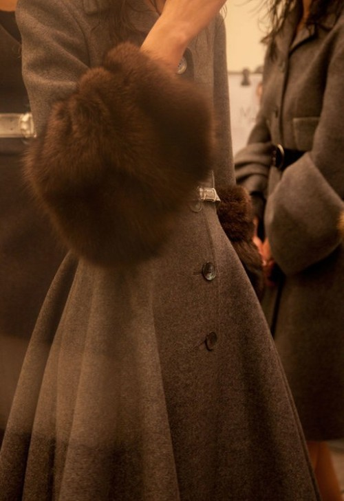 Backstage at Prada Fall 2013 in Milan, photographed by Carlotta Manaigo.
