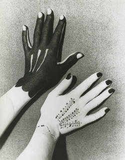 blue-voids:  Man Ray - Hands painted by Picasso (1935)