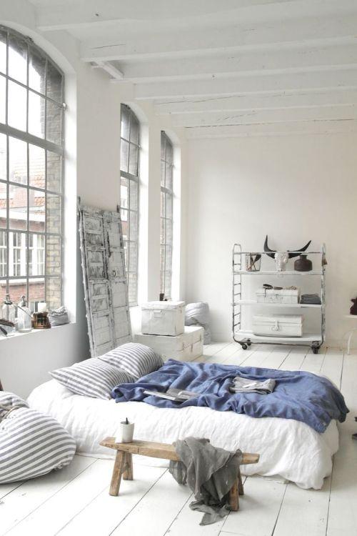 winter white summer vintage bedroom design inspiration bed ...