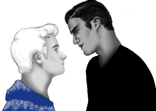 blaineburrito:  uh yeh Blaine as Pitch Black  and Kurt and Jack Frost