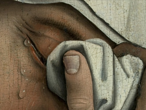 keharitomeni:  The Descent from the Cross (detail), Rogier van der Weyden