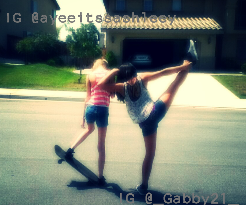 I Feel Such A Tumblr Girl.-. Im On The Skate Board.-. Hehe ^0^ #tumblr #girl #stake #gymnastic #gym