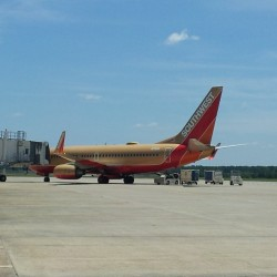 A very strange sight to see at kshv a southwest charter  (at Gate 9 SHV)