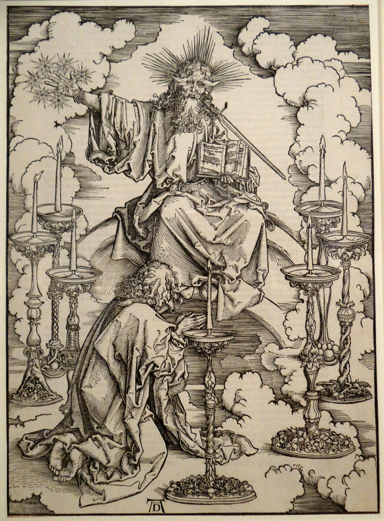 signorcasaubon:  Albrecht Durer - The Vision of the Seven Candlesticks; Queen's Gallery, Buckingham Palace, Westminster, England; 15th century