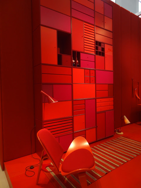 Full-on red styling at Danish Chromatism at Triennale Design Museum, Milan 2013.