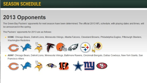 Here are the teams we will face in 2013.