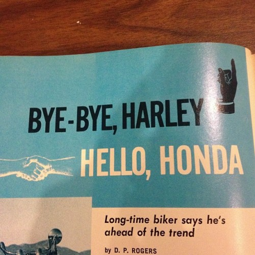 Honda Hank approved. Big Bike Magazine Feb. 1972