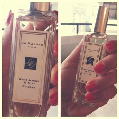 mommy went to #London and bought me a #beautiful #jomalone #perfume 👌💄