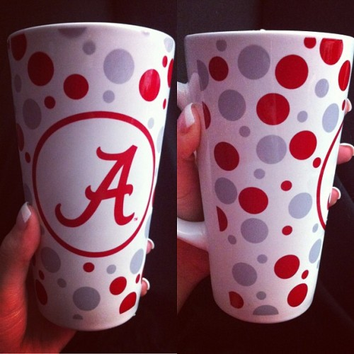 Austin's attempt to get me to like Alabama. 😉❤