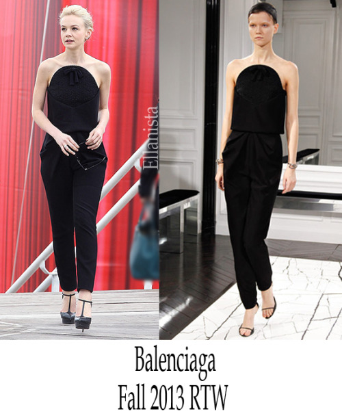Cannes Film Festival  Carey Mulligan wore a Balenciaga jumpsuit to 'The Great Gatsby' Photocall.