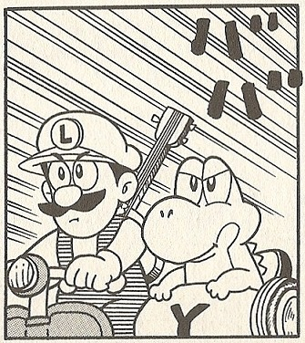 suppermariobroth:  Luigi goes nowhere without his guitar!