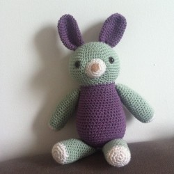 Yay, the bunny is done…. #crochet #amigurumi