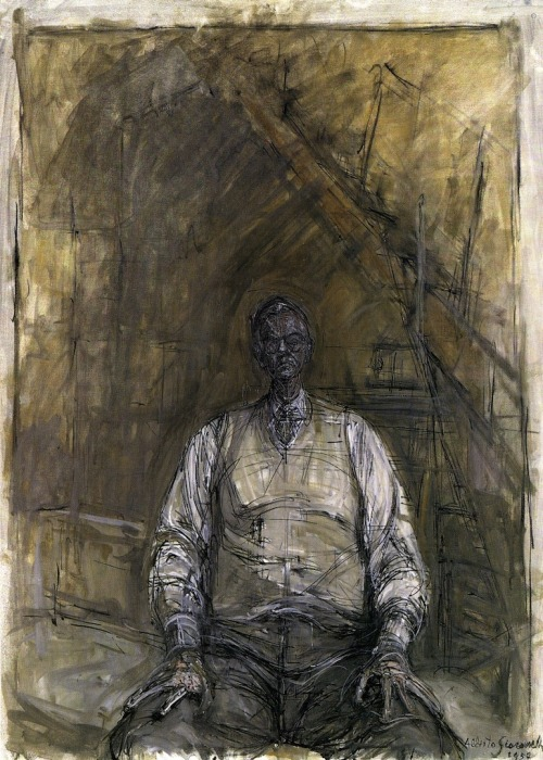 "ronulicny:  ""Portrait Of David Thompson"", 1957  By: ALBERTO GIACOMETTI…."