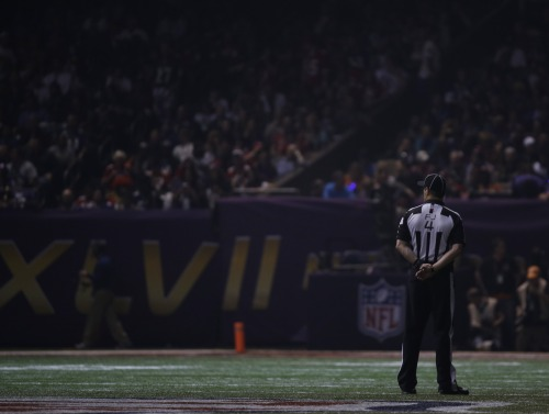 Lights out at the Super Bowl tonight. More images from the blackout: http://usat.ly/Ukzi5S (Photo by Matt Slocum, AP)