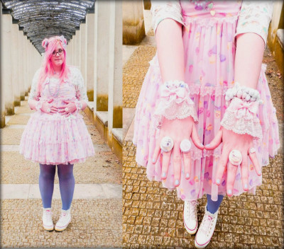 Kawaii International (by Maelle P.)  Saturday we have been filming our rainbow team meeting for the next Kawaii International show on NHK! You can see us on the 27th April ^_^ Picture of my outfit by Haru Popkei, go check her account!