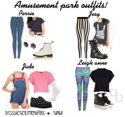 dresslikethe4littlemuffins:  A requested one i hope you like it! Perrie: Jeans Shirt Boots Sunglasses Jesy: Leggings Shirt Boots Necklace Jade: Dungarees Top Socks creepers Leigh anne: Leggings Top Sneakers Earrings xxx Eva
