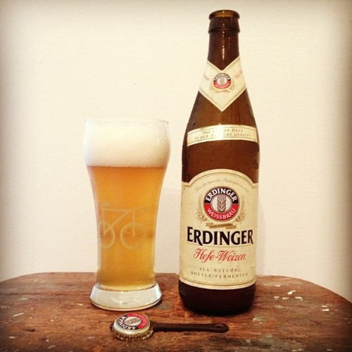 That huge Erdinger beer