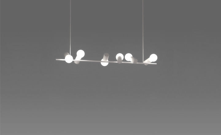 Sparrow:pendant lamp by Zhili Liu/// great sophisticatedly clean